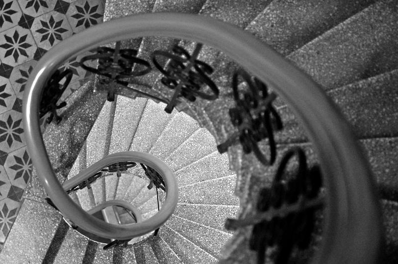 Stairs where Sara goes to dance class